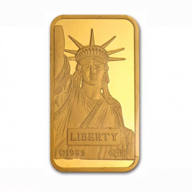 Goldbarren Credit Suisse 20g .9999 Gold Motiv Liberty