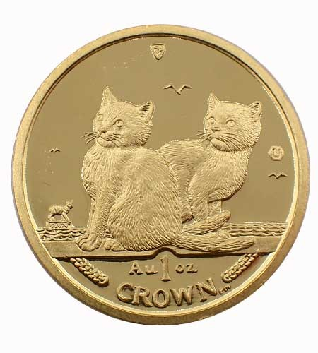 Isle of Man Balinese Kittens Cat 1 oz Gold 2003