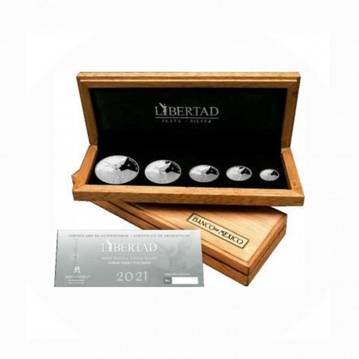 Mexico Libertad/Siegesgöttin 1,9 Onza Set .999 Silber PP/Proof 2021