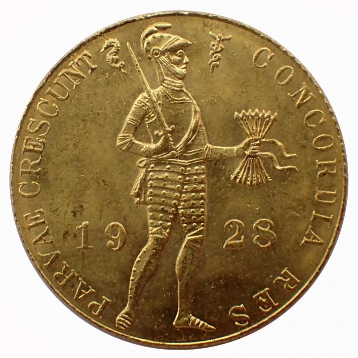 Niederlande 1 Dukat 1928 Wilhelmina Gold