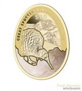 Neuseeland $ 10 Gold Kiwi 2016 PP - Apterix Haastii Kiwi