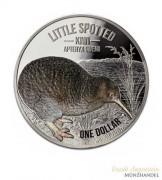 Neuseeland $ 1 Silber Kiwi 2018 Polierte Platte -  Little Spotted Kiwi