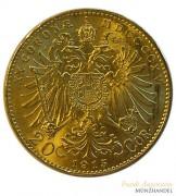 Österreich-Ungarn 20 Kronen Gold 1915
