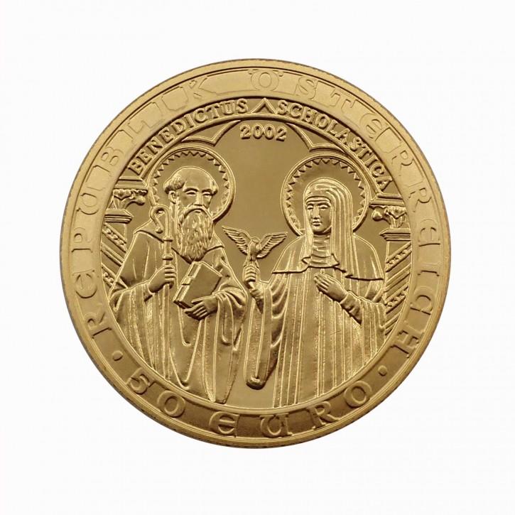 """Österreich 50 Euro Gold """"Orden und die Welt"""" 2002"""