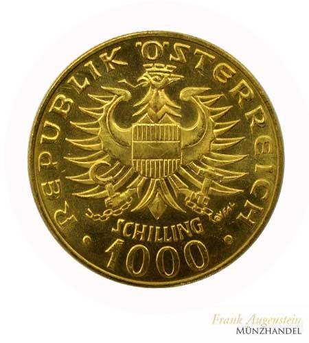 Österreich 1000 Schilling Babenberger Gold 1976
