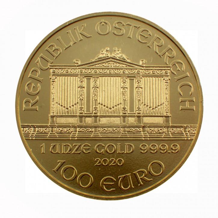 Österreich 100 Euro Gold Philharmoniker 1 oz 2020 - in Blisterpack