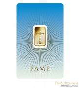 Goldbarren Pamp Suisse 5 g .9999 Gold Motiv Römisches Kreuz