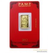 Goldbarren Pamp Suisse 5 g .9999 Gold Motiv Lunar Drachen