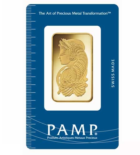 Goldbarren Pamp Suisse 1 oz .9999 Gold Motiv Fortuna