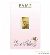 Goldbarren Pamp Suisse 5 g .9999 Gold Motiv Love Always