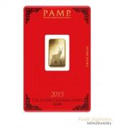 Goldbarren Pamp Suisse 5 g .9999 Gold Motiv Lunar Ziege