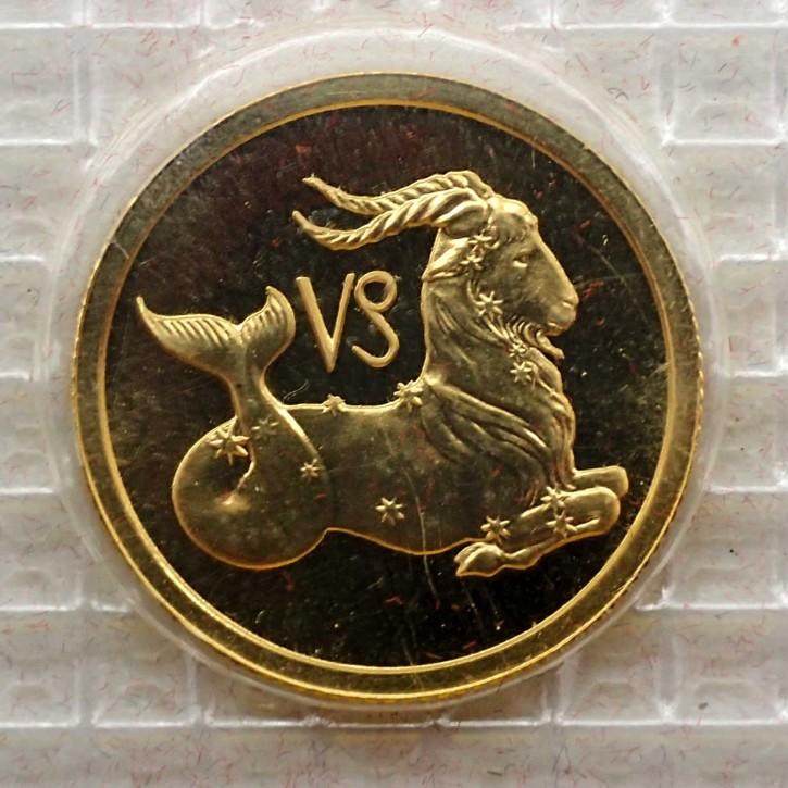 Russland 25 Rubel Gold 1/10 oz Sternzeichen Steinbock 2002