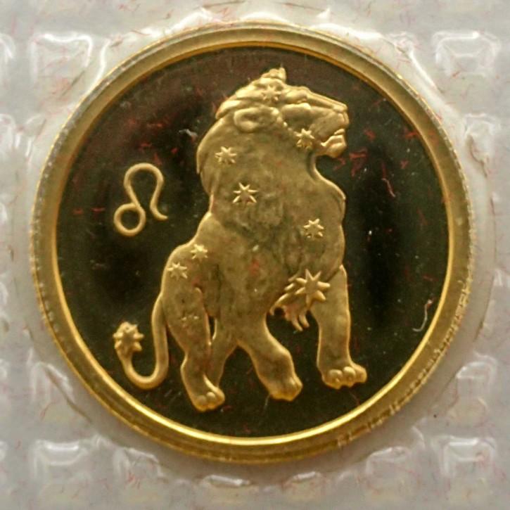Russland 25 Rubel Gold 1/10 oz Sternzeichen Löwe 2002