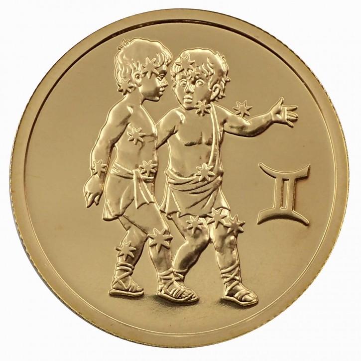 Russland 50 Rubel Gold 1/4 oz Sternzeichen Zwillinge 2004