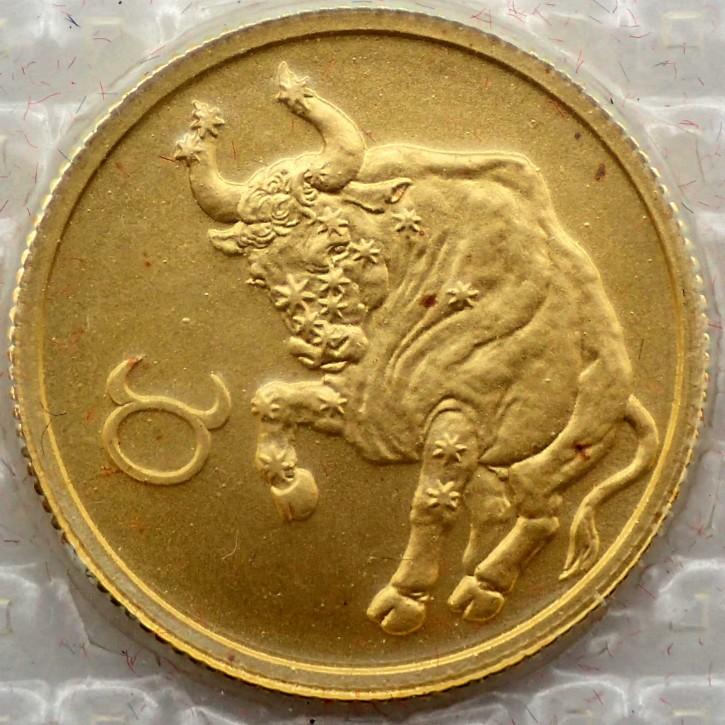 Russland 25 Rubel Gold 1/10 oz Sternzeichen Stier 2003