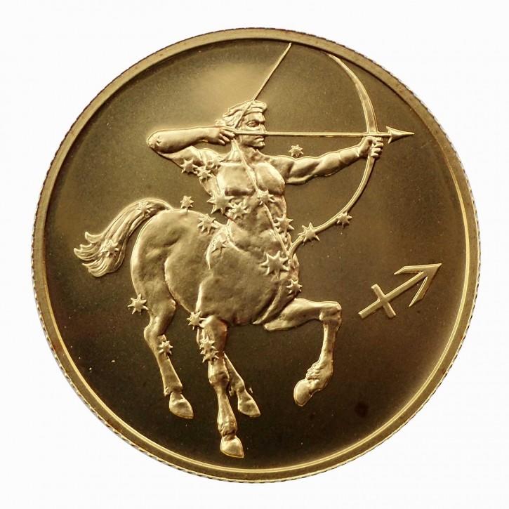 Russland 50 Rubel Gold 1/4 oz Sternzeichen Schütze 2003