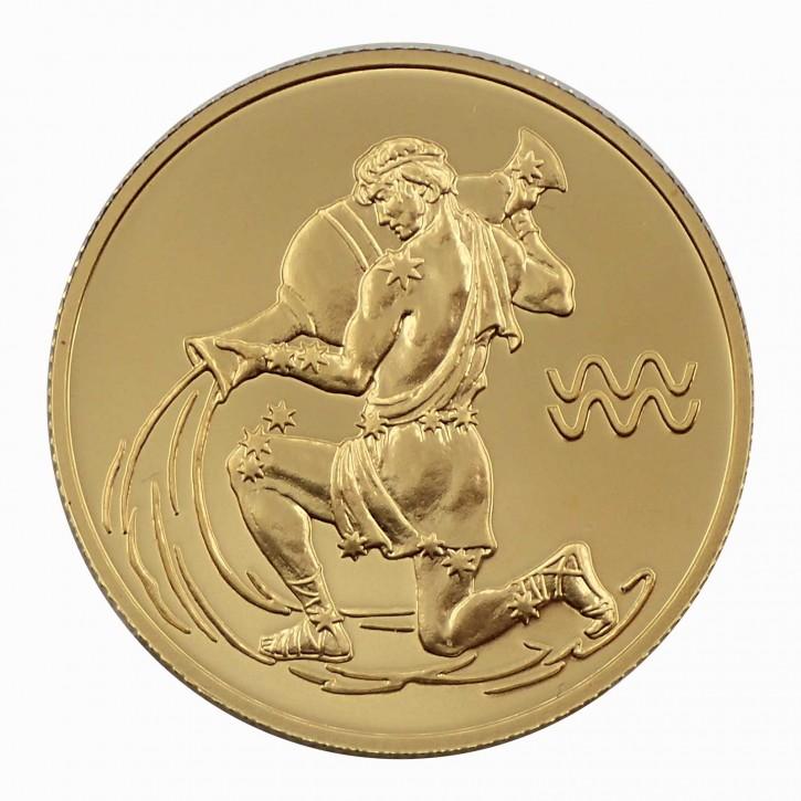Russland 50 Rubel Gold 1/4 oz Sternzeichen Wassermann 2004
