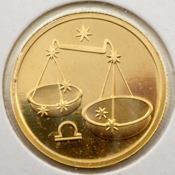 Russland 50 Rubel Gold 1/4 oz Sternzeichen Waage 2003
