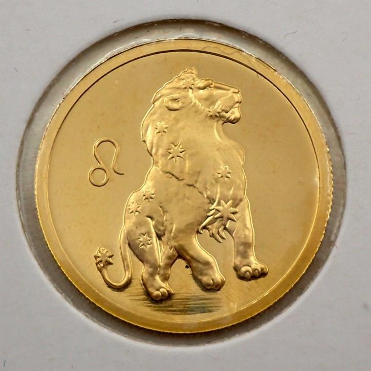 Russland 50 Rubel Gold 1/4 oz Sternzeichen Löwe 2003