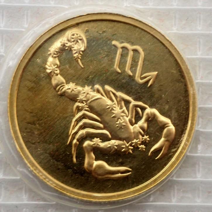Russland 50 Rubel Gold 1/4 oz Sternzeichen Skorpion 2003