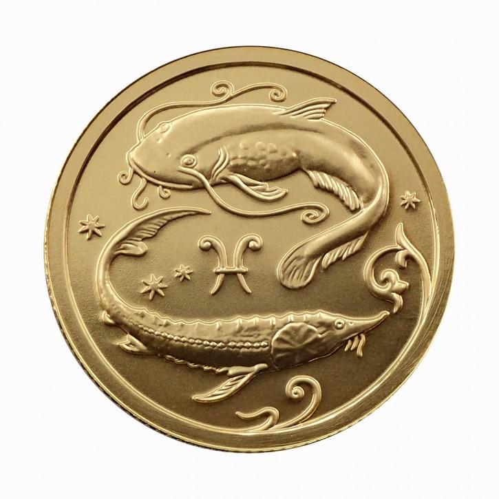Russland 25 Rubel Gold 1/10 oz Sternzeichen Fische 2005