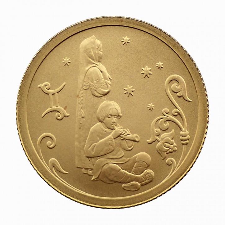 Russland 25 Rubel Gold 1/10 oz Sternzeichen Zwillinge 2005