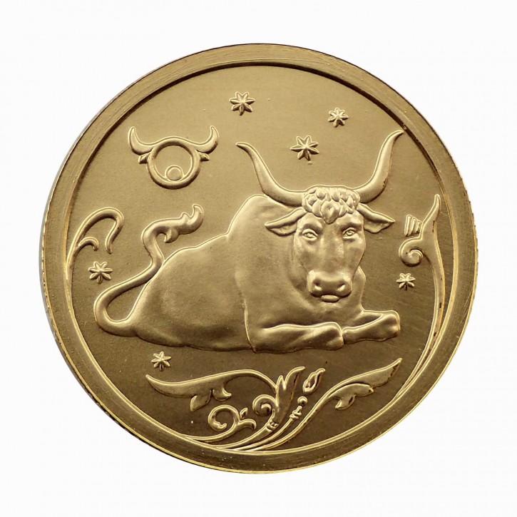 Russland 25 Rubel Gold 1/10 oz Sternzeichen Stier 2005