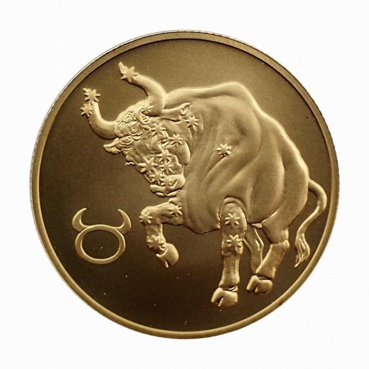 Russland 50 Rubel Gold 1/4 oz Sternzeichen Stier 2004
