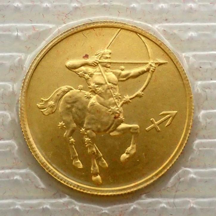 Russland 25 Rubel Gold 1/10 oz Sternzeichen Schütze 2003