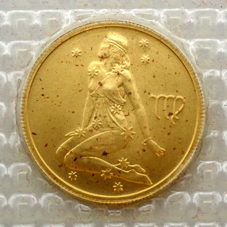 Russland 25 Rubel Gold 1/10 oz Sternzeichen Jungfrau 2002