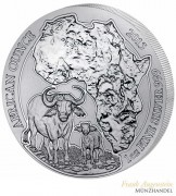 Ruanda 50 Francs 1 oz Silber African Ounce Flußpferd/Hippo 2017 PP