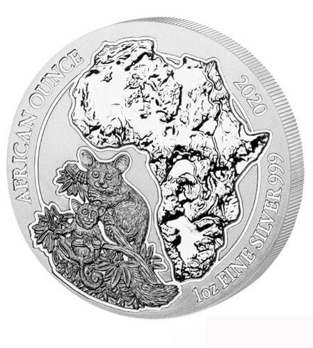 Ruanda 50 Francs 1 oz Silber African Ounce Bushbaby 2020 BU