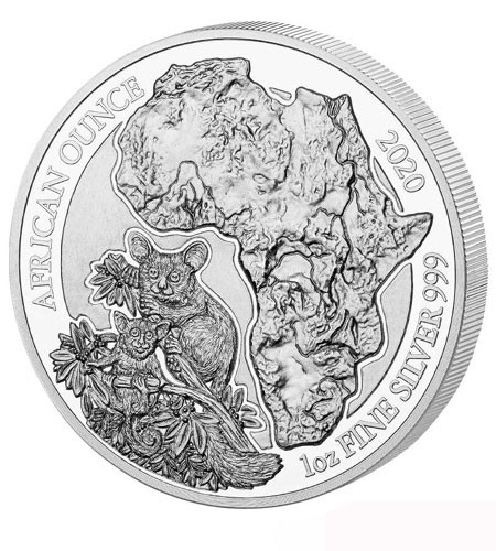 Ruanda 50 Francs 1 oz Silber African Ounce Bushbaby 2020 PP