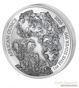 Ruanda 50 Francs 1 oz Silber African Ounce Elefant 2009