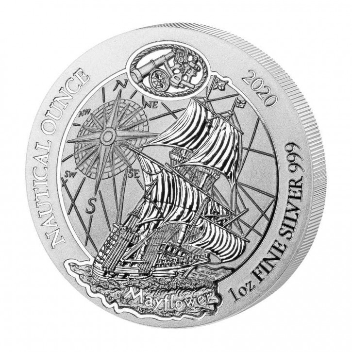 Ruanda 50 Francs 1 oz Silber Nautical Ounce Mayflower 2020 BU
