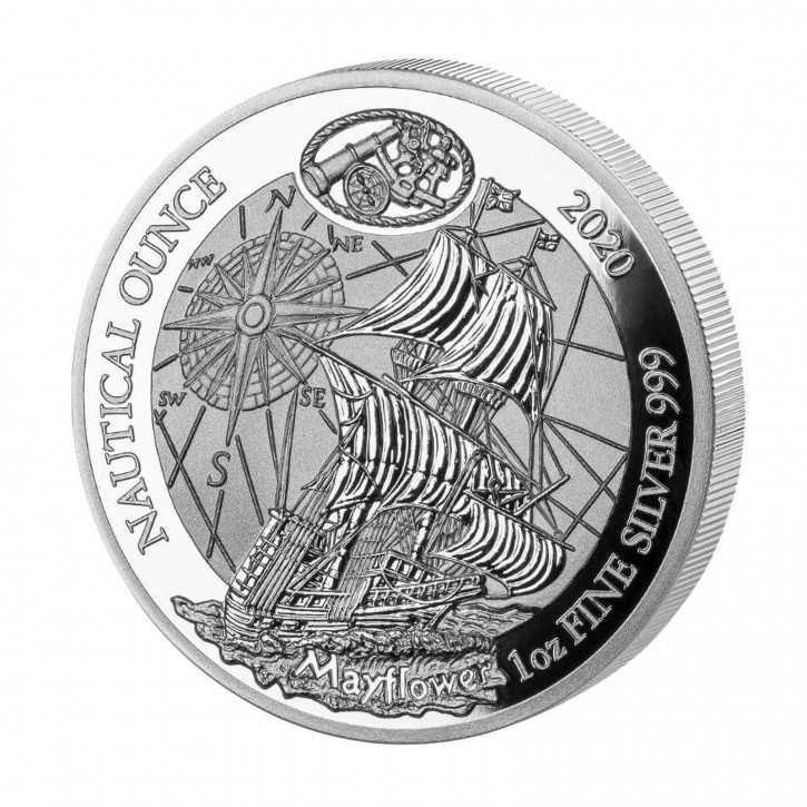 Ruanda 50 Francs 1 oz Silber Nautical Ounce Mayflower 2020 PP