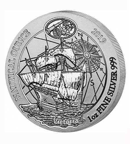 Ruanda 50 Francs 1 oz Silber Nautical Ounce Victoria 2019 BU