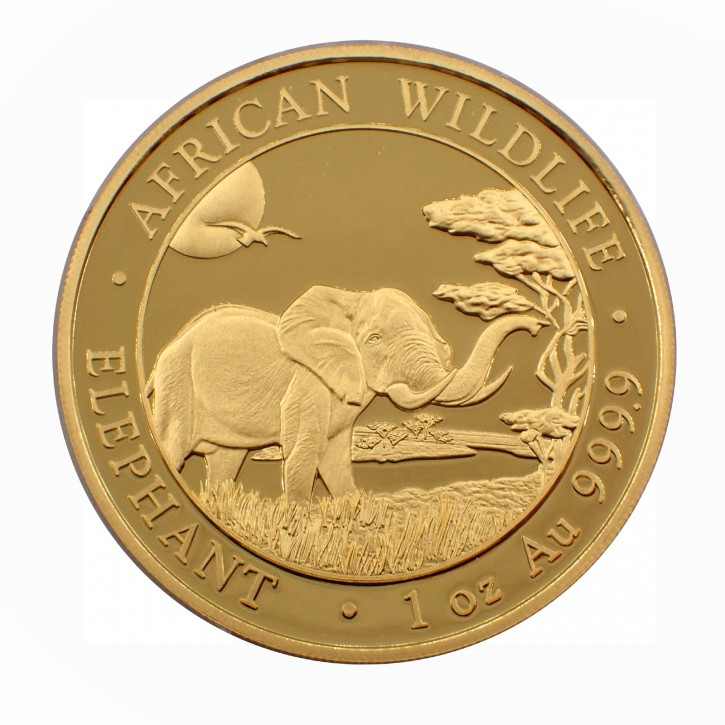 Somalia 1000 Francs 1 oz Gold Elefant 2019