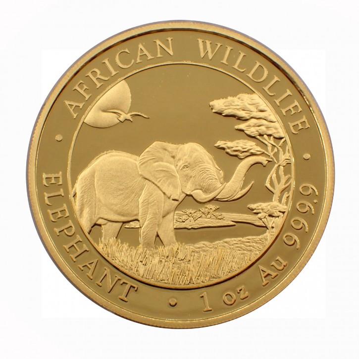 Somalia 1000 Francs 1 oz Gold Elefant 2019