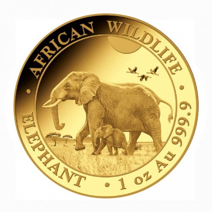 Somalia 1000 Shillings Elefant Gold 1 oz 2022