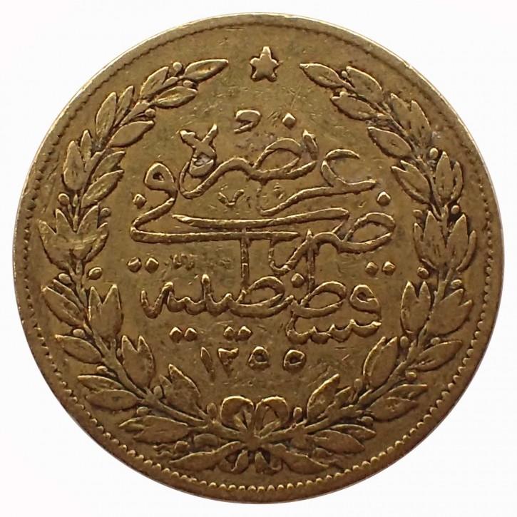 Türkei 100 Piaster Abdul Medschid Gold