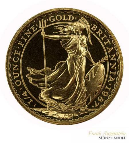 Großbritannien 25 Pfund Britannia 1/4 oz Gold