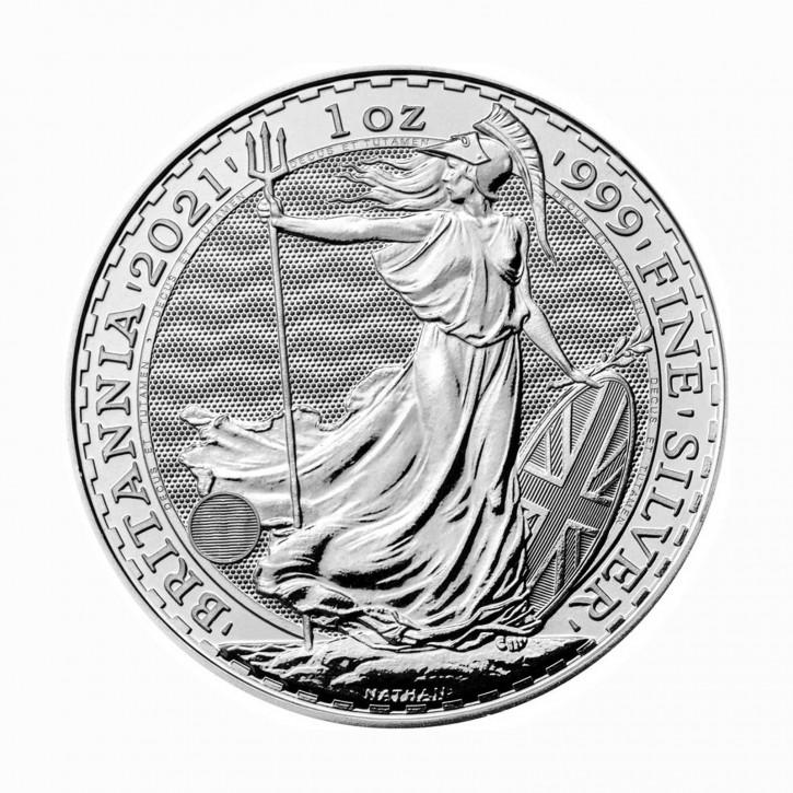 Großbritannien 2 Pfund Britannia .999 Silber 2021