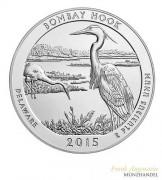"USA $ 0,25 ""America the beautiful"" Bombay Hook - Delaware 5 oz Silber 2015"