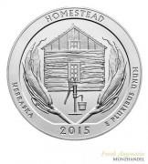 "USA $ 0,25 ""America the beautiful"" Homestead National Park - Nebraska 5 oz Silber 2015"