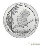 "USA $ 0,25 ""America the beautiful"" Kisatchie - Louisiana 5 oz Silber 2015"