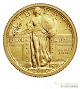 USA $ 0,25 Gold PP Standing Liberty 2016