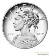 USA Silber PP American Liberty 225th Anniversary 2017