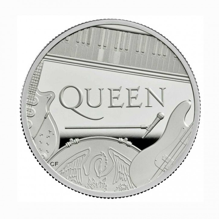 Großbritannien 10 GBP Music Legends Queen 5 oz Silber PP 2020