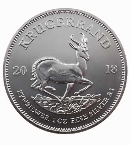 Südafrika Krügerrand 1 oz Silber 2018
